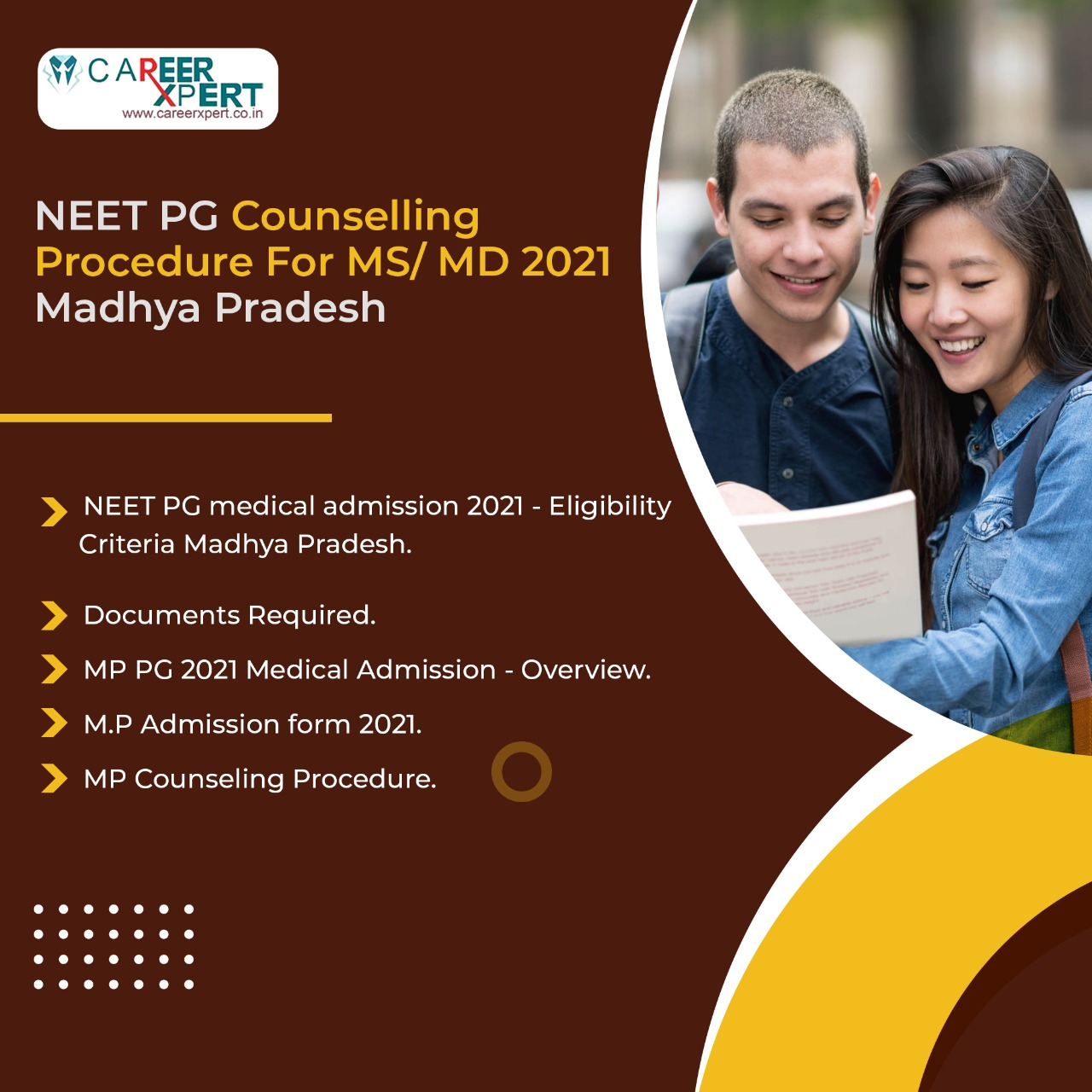 NEET PG Counselling Procedure For MS/ MD 2021 Madhya Pradesh